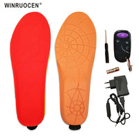 NEW BEST GIFT Heating warm Electric heated Insoles With Wireless winter Remote Control Battery USB Electric Powered Plush Insole