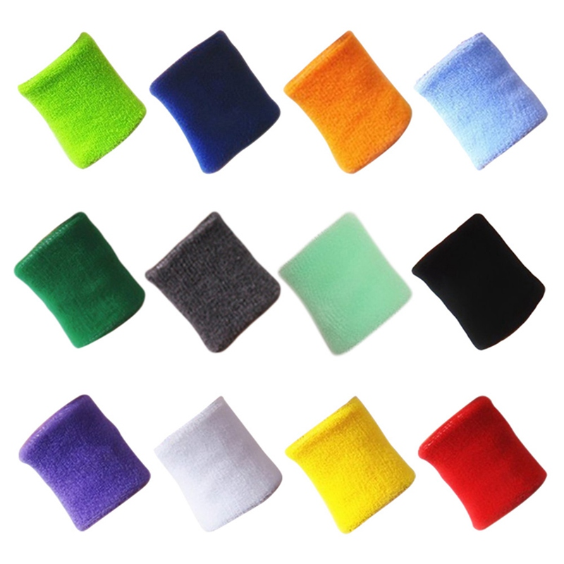 Security & Protection Friendly Quality Cotton Wristbands Prevent Sweating Solid Color Wrist Band Bands Sweatbands Unisex Sweat Band For Sport Tennis