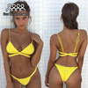 Bikini 2017 Floral Swimsuit Women Push Up Swimwear Bandeau Bathing Suit Thong Trikini Skirt Two Piece