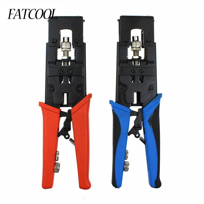 FATCOOL Multifunction RG58 RG59 RG6 F BNC RCA Coax Compression Connector Adjustable Tool Wire Cutter rotary coax coaxial cable cutter tool rg58 rg6 stripper free shipping