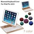 Fall Für iPad Pro 10,5 360 grad rotation 7 Farben Backlit Licht Drahtlose Bluetooth Tastatur Fall Abdeckung Für iPad Air 3 10,5