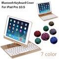 Per Il caso di iPad Pro 10.5 360 gradi di rotazione 7 Colori di Luce Retroilluminato Tastiera Senza Fili di Bluetooth Della Copertura di Caso Per iPad Air 3 10.5