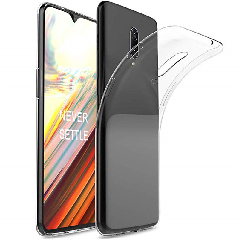 Oneplus 6T Case Soft Clear Transparent Back Case For One