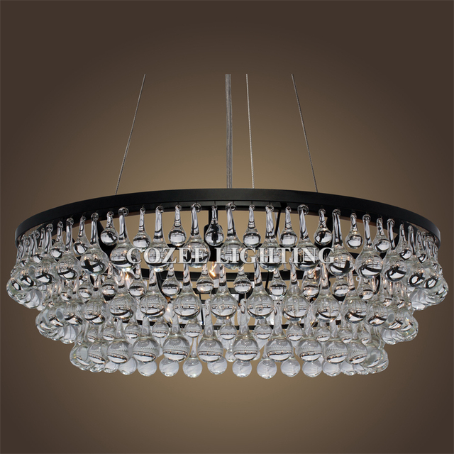 Vintage Round Weston Chandeliers Led Lighting Modern Glass Drops