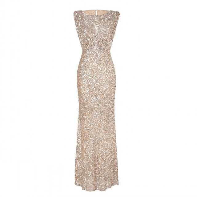 Luxury Sequin Robes Abendkleider Crystal Evening Dresses Great ...