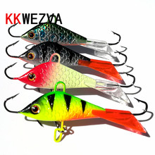 KKWEZVA New 4pcs/lot 52mm 7.3g Ice jig Fishing Lure winter Ice Fishing Onerous Bait Minnow Pesca Deal with Isca Synthetic Bait