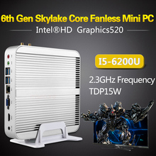 Intel Fanless i5 6200U Mini PC Desktop Computer Windows 10 Nettop barebone system NUC Skylake HTPC HD520 Graphics 4K 300M WiFi(China (Mainland))
