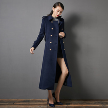 Новое поступление высокое качество Женский Тонкий кашемировый шерстяной Теплый Тренч благородный пояс тонкое Длинное Макси пальто женский пиджак деловой наряд