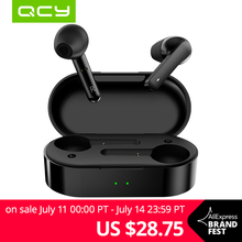 QCY T3 TWS Fingerprint Touch Wireless Headphones Bluetooth V5.0 3D Stereo Dual Mic Noise cancelling earphones-in Bluetooth Earphones & Headphones from Consumer Electronics on Aliexpress.com | Alibaba Group