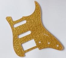 Gold Sparkle Plastic ST Strat HSS Guitar Pickguard Scratch Plate for Fender