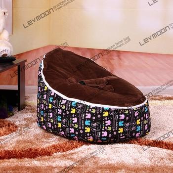 все цены на  FREE SHIPPING bean bag with 2pcs coffee up cover baby bean bag chair baby bean bag bed lounger sofa stool  онлайн