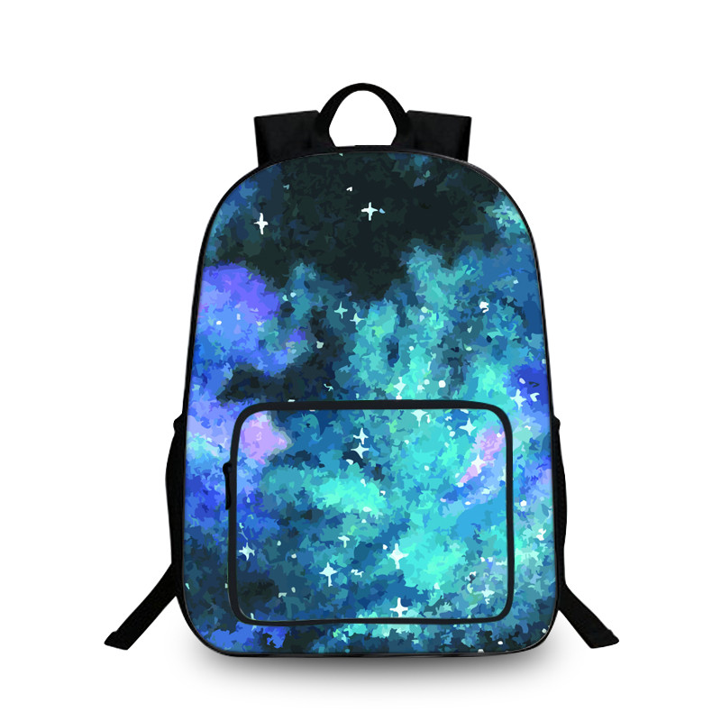 New Hot Women School 3D Printing Backpack Galaxy Star Universe Space Printing Backpacks for Girls Boys School Bagpack Bags Kids image