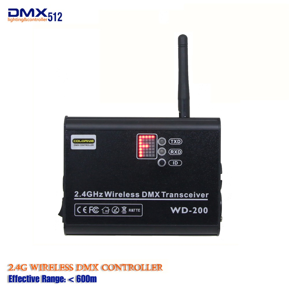 2019 New Style 2.4Ghz Wireless DMX Receiver And Transmitter Controller 2 In 1 Both Way Led Stage Lighting Controller