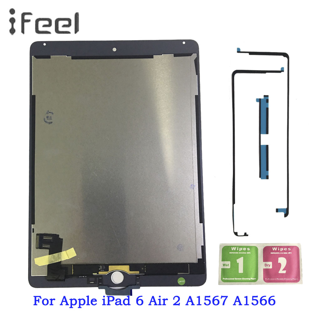 9.7 New LCDS For Apple iPad 6 Air 2 A1567 A1566 LCD Display Touch Screen Digitizer Assembly Replacement Part9.7 New LCDS For Apple iPad 6 Air 2 A1567 A1566 LCD Display Touch Screen Digitizer Assembly Replacement Part