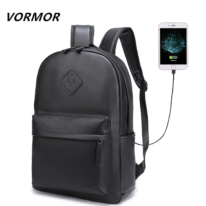 2018 New Men Leather Backpack For 15.6 inches Laptop Backpack Large Capacity Stundet Backpack Water Repellent Casual Style Bag men backpack student school bag for teenager boys large capacity trip backpacks laptop backpack for 15 inches mochila masculina
