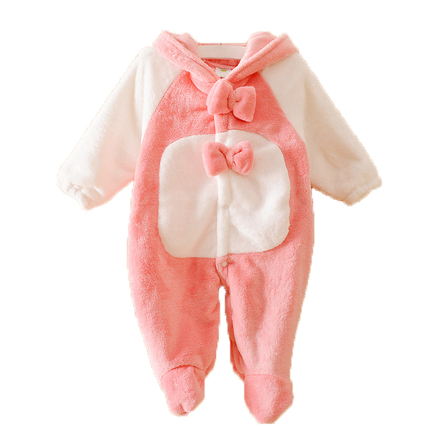40fa23e656fea Warm Baby Romper Fleece Costume Infant Clothing for Newborn Winter Baby  Clothes Boy Girl Rompers Jumpsuit