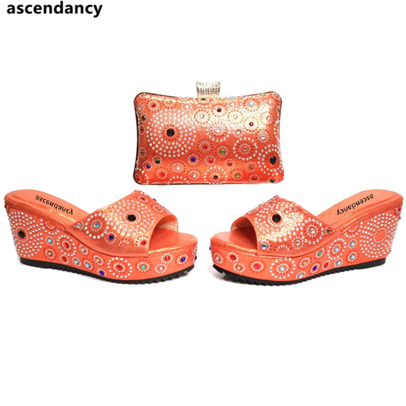 Hauts Vert À Africaines Chaussures Sac Cristal Noce Purple Assortir Peep Sacs rose En Toe Strass Et light De rose Red Pompes Couleur Femmes orange Ensemble Talons Orange XRwTAq