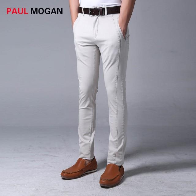 Paul Mogan broek mannen grijs slim fit joggers mode hoge kwaliteit mannen  katoenen broek broek masculina 4138c77746ef