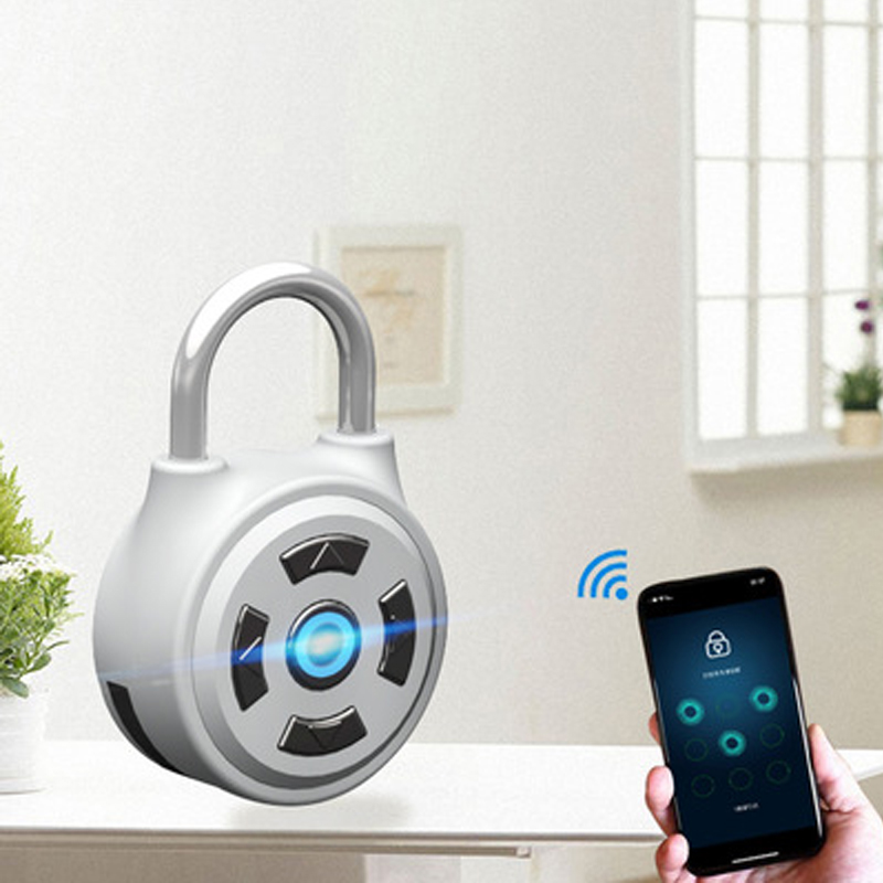 Smart Bluetooth Keyless Lock Waterproof APP Button Anti-Theft Password Door Luggage Padlock