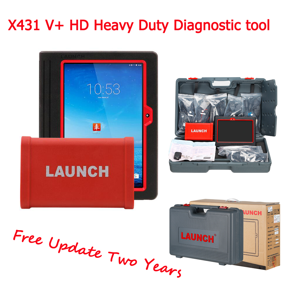LAUNCH 2018 new X431 V+ X431 HD Heavy Duty diagnostic tool support 24V Truck X-431 V+ Heavy Duty Scanner free ship usb флеш накопитель smartbuy v cut 32gb usb 2 0 sb32gbvc s