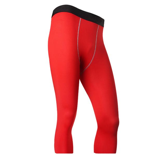 3/4 Men Leggings New Compression Fitness