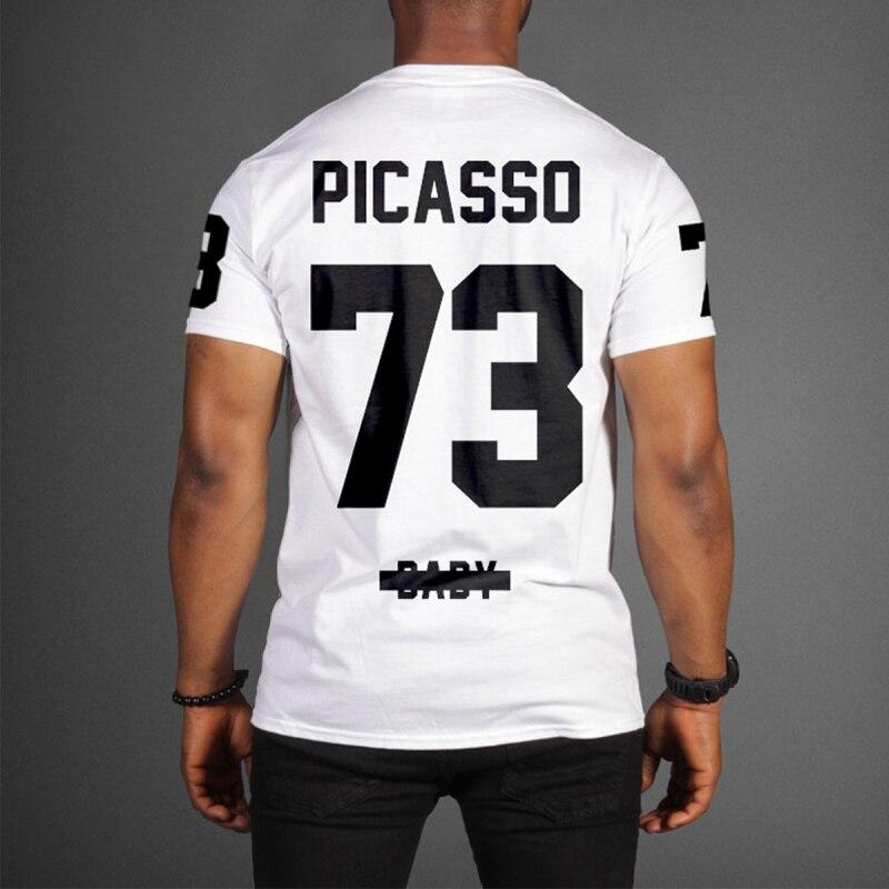 Mens   t     shirts   fashion 2016 JAY-Z Picasso 73 Baby Magna Carta Tour   t     shirt   Cotton short sleeves tee   shirt   hip hop   t     shirt