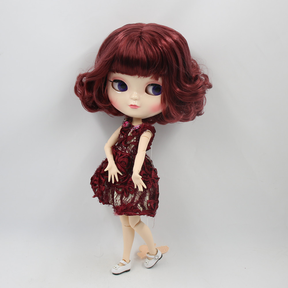 Girls Gift Childs Toy Good For Antipyretic And Throat Soother Toys & Hobbies Responsible Icy Doll No.bl12532 Nude Doll With Short Brown Red Curly Hair White Skin And A-cup Joint Body