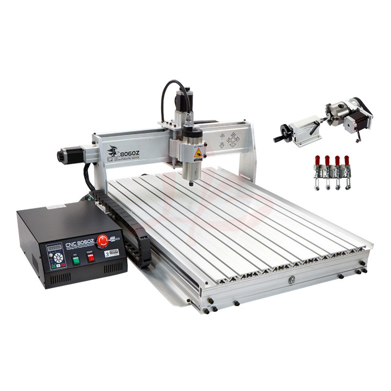 YOO CNC 8060 1.5KW Wood Lathe Router Machine with USB Port