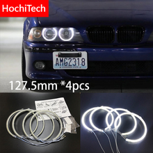 HochiTech for BMW 5 series E39 OEM 2001 03 Ultra bright SMD white LED angel eyes 2600LM 12V halo ring kit daytime running light