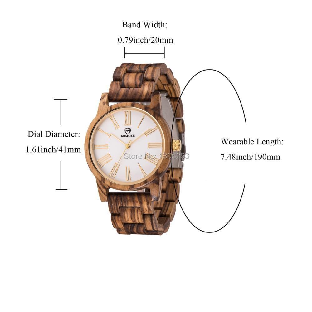 2018 El más nuevo diseño de los hombres de salud reloj de madera de - Relojes para hombres - foto 6