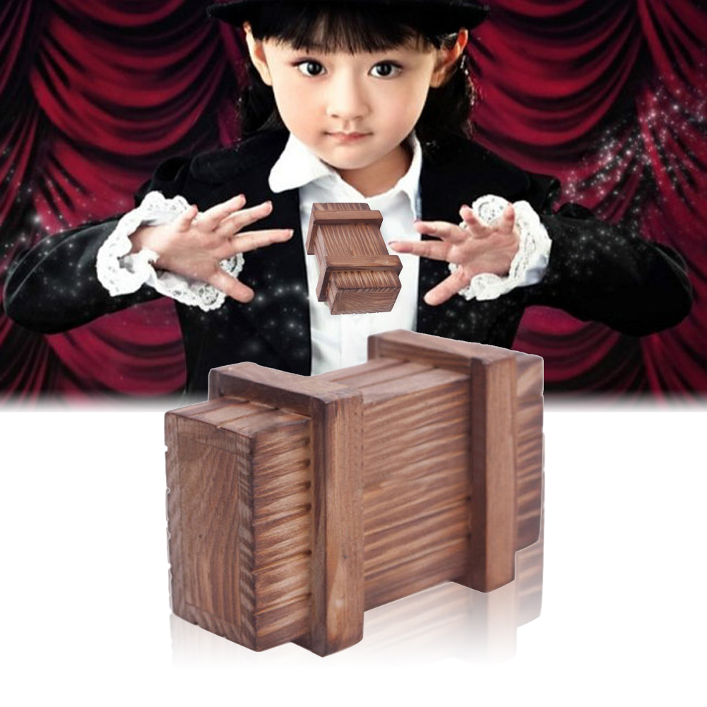 Magic Wooden Toy Magic Puzzle Box Kids Secret Box Creative Puzzle Wooden Secret Trick Fun Toys for Kids Boy Girl Birthday Gift ...