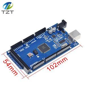 MEGA2560 Mega 2560 R3 REV3 ATmega2560-16AU CH340G Board ON USB Cable compatible for arduino No USB line(China)