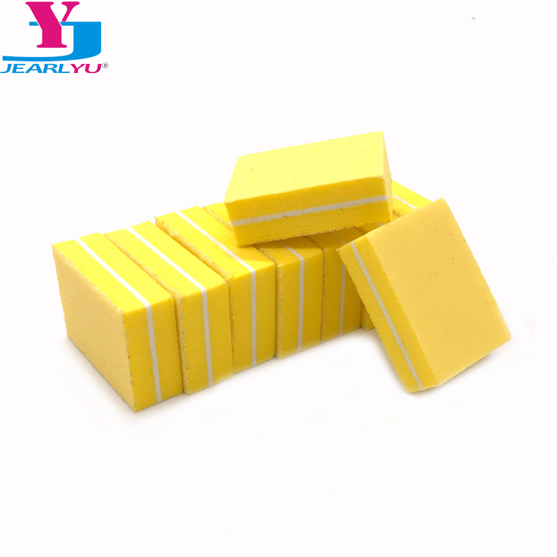 20 Pcs/lot Yellow Mini Nail Buffer File Sanding File Professional Nail Files Sponge Boards 100/180 Grit Pedicure Tools For Nail