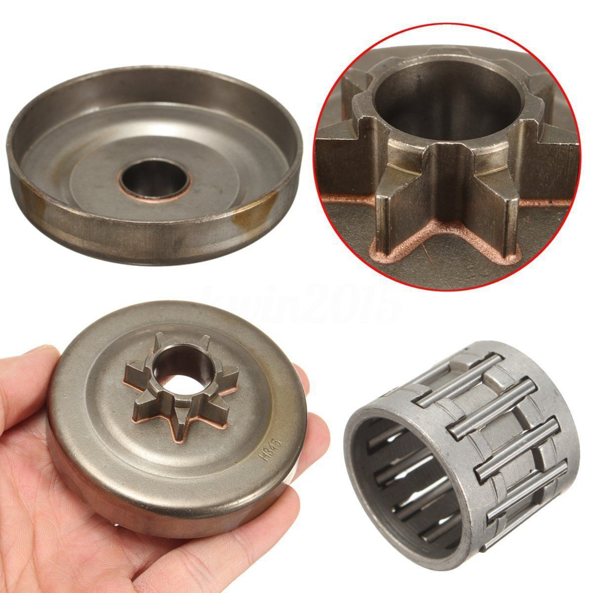 Steel High Quality 7 Teeth Clutch Cover Drum Chain Sprocket Chainsaw Mayitr Garden Tools chainsaw clutch with drum needle bearing kit fit partner 350 351 chain saw replaces parts