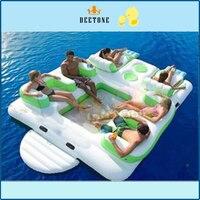 Надувные плавающие гостиная взрослых надувные остров воды, поплавок диван/стул