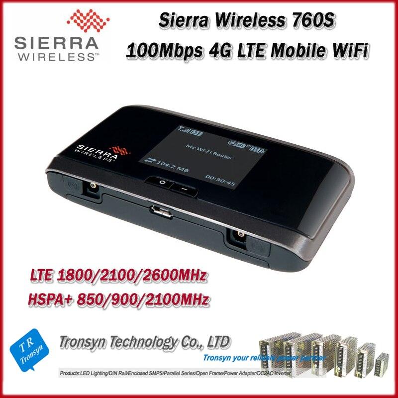 Déverrouillage d'origine en gros LTE 100 Mbps Sierra sans fil Aircard 760 S 4G carte Sim routeur WiFi Mobile et routeur WiFi 4G LTE