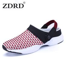 ZDRD Neue Frauen marke mode Licht Mesh hausschuhe Sommer Casual sandalen frauen Atmungsaktives chaussure femme Wohnungen hausschuhe