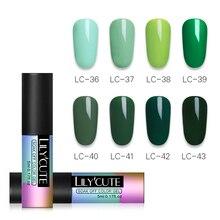 LILYCUTE Green Nail UV Gel Polish Long Lasting Nail Art Decoration Pure Color Gel Varnish Manicure Design 5ml