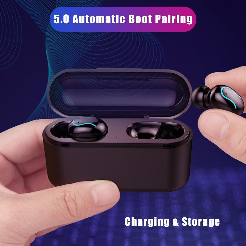 Image 2 - Bluetooth 5.0 Wireless Earphones Handsfree Sports Headset Wireless Headset Bluetooth Earphones Headset-in Bluetooth Earphones & Headphones from Consumer Electronics