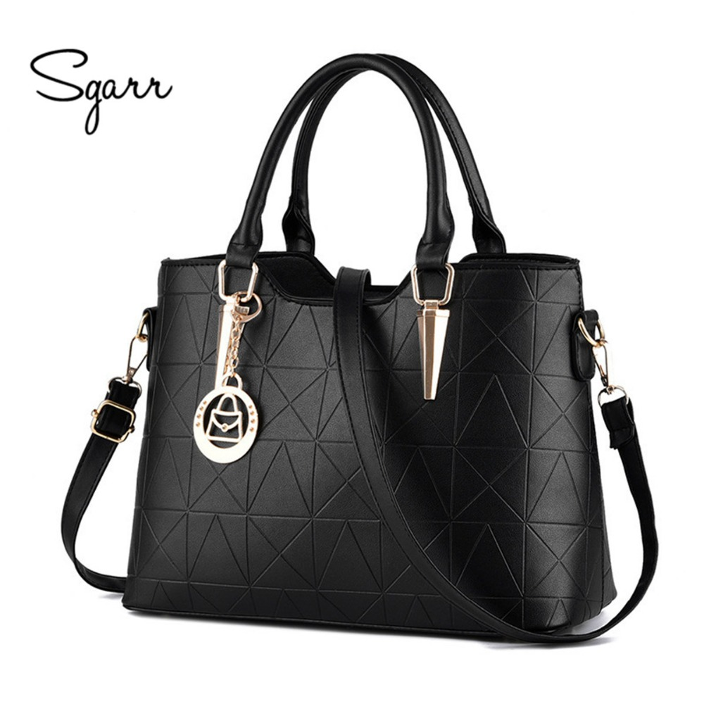 SGARR Brand Women Handbag Fashion 2017 Luxury Designer Women Bags Female PU leather Shoulder Crossbody Bag Elegant Women Messeng luxury genuine leather bag fashion brand designer women handbag cowhide leather shoulder composite bag casual totes