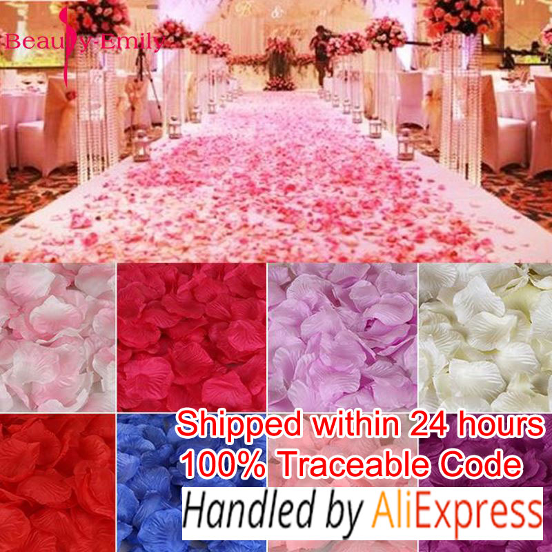 2000pcs / lot 5*5cm silk rose petals for Wedding Decoration, Romantic Artificial Rose Petals Wedding Flower Rose Flower rose petals heart love patterned valentine s day waterproof table cloth