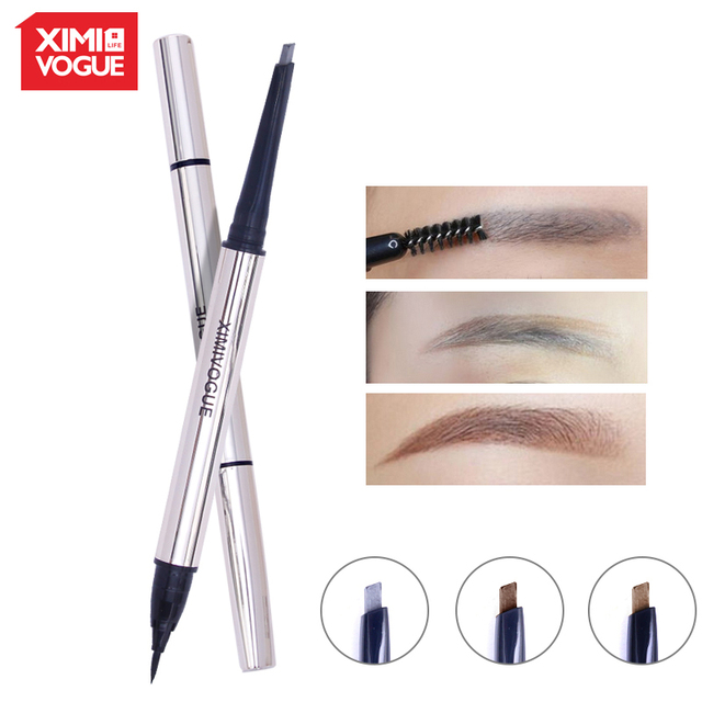 Ximivogue Brand Cosmetic Eye Makeup Natural Double Head Eyebrow