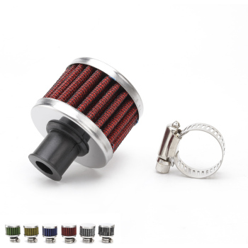 Universal Air Filter Intake 12mm Auto Car Cold Mini Air Filter Cleaner Valve Cover Reusable Vent Breather TT100489 image