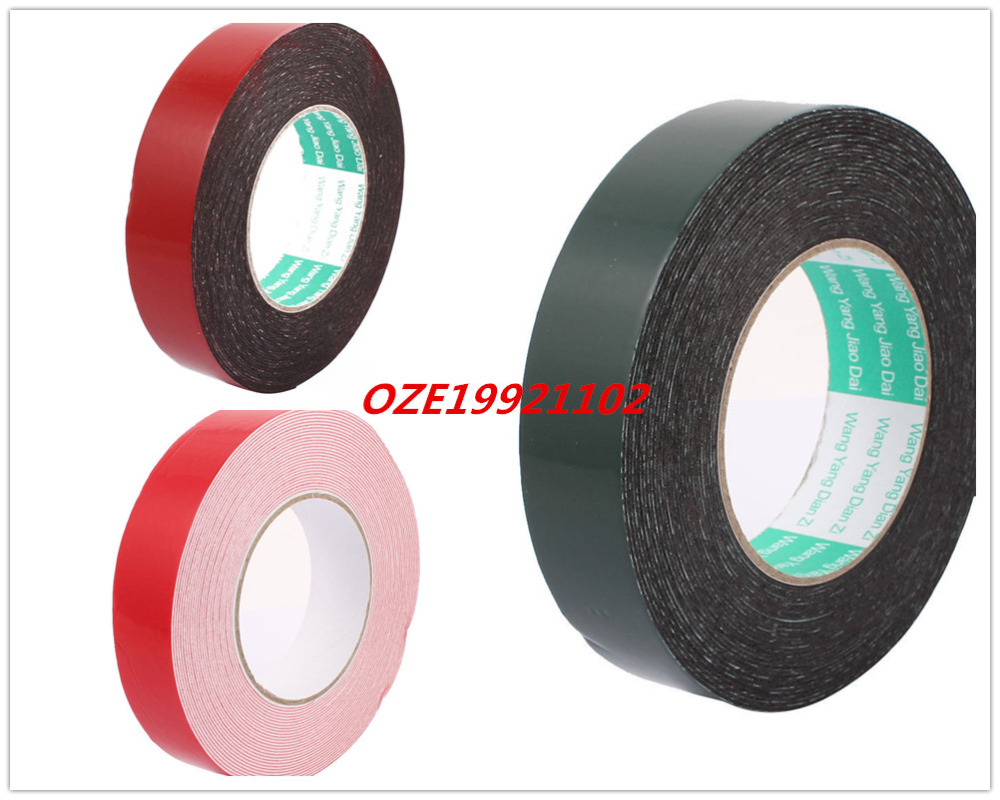 30mm x 1mm Double Sided Self Adhesive Sponge Foam Tape for Car 10M Length S 1PCS M 2PCS 10m 40mm x 1mm dual side adhesive shockproof sponge foam tape red white