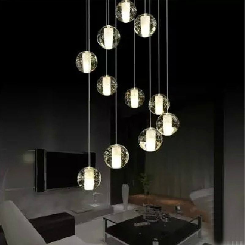 Buy crystal ball pendant light modern for Suspension contemporaine