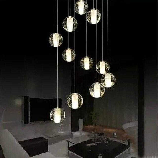 Aliexpress.com : Buy crystal ball pendant light modern ...