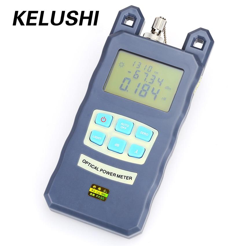 KELUSHI Fiber Optik Güç Ölçer DXP-20B-70 ~ 10dBm Ayarlanabilir Saplı Fiber Optik Kablo Test Cihazı için FC / SC Konektörü