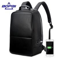 BOPAI Brand New Designed Anti Theft Backpack External USB Charging Function Men Travel Backpack Business Men