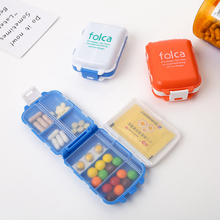 new weekly sort folding vitamin medicine pill box makeup storage case container zh065 7 Grids Plastic Weekly Folding Tablet Pill Box Case Portable Candy Vitamin Container Storage Organizer Travel Accessories