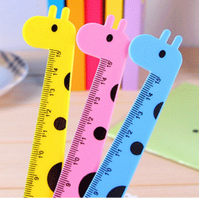 Wholesale 800 Pcs/lot Students Artisti Cute Cartoon Animal Rulers For Kids Plastic Straight Ruler Creative Lovely Stationery